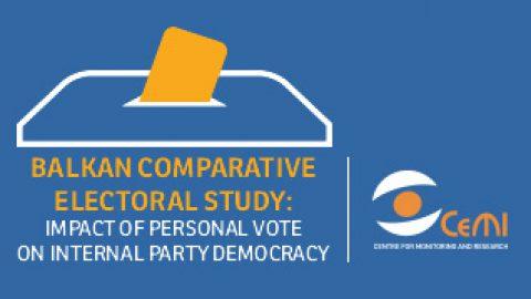 Balkanska komparativna studija izbora – Uticaj personalnog glasanja na unutarpartijsku demokratiju