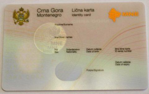 Saopštenje povodom ličnih karata državljana Crne Gore