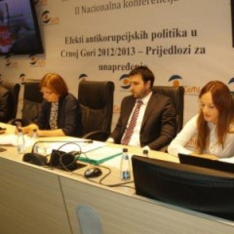 """Održana II Nacionalna konferencija ,,Efekti anti-korupcijskih politika u Crnoj Gori 2012/2013 – prijedlozi za njihovo unaprjeđenje"""""""