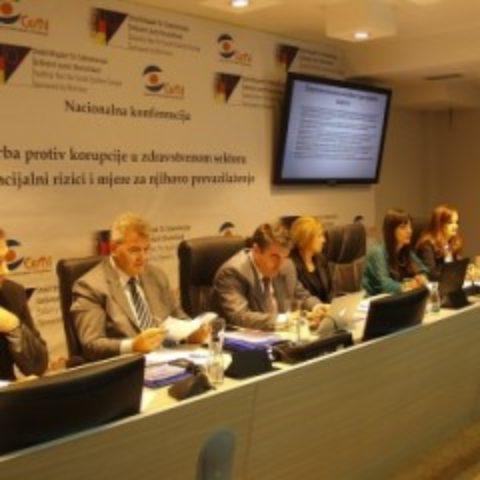"""Održana Nacionalna konferenciju pod nazivom """"Borba protiv korupcije u zdravstvu – potencijalni rizici i mjere za njihovo prevazilaženje"""""""