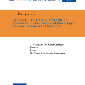 Acess to the labor market - Overview from the position of Roma, Egyptians and Persons with Disabilities