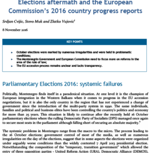 Elections Aftermath and the European Commission's 2016 country progress report