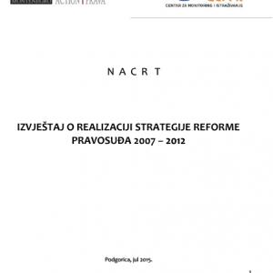 Izvjestaj o realizaciji Strategije reforme pravosudja 2007 - 2012