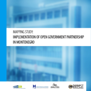 Mapping study: Implementation of Open Government Partnership in Montenegro