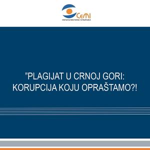 Plagijat u Crnoj Gori Korupcija koju oprastamo