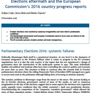 Posljedice izbora i Izvjestaj EK o napretku Crne Gore za 2016