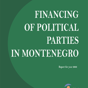 Report on the Financing of Political Parties 2006