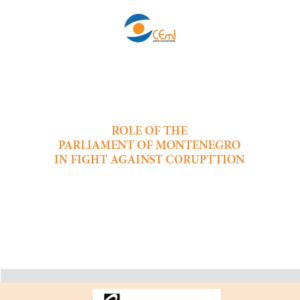 Role of the Parliament of Montenegro in fight against corruption