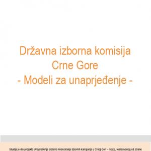 Studija Drzavna izborna komisija Crne Gore