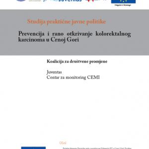 Studija javne politike Prevencija i rano otkrivanje