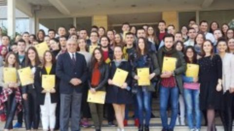 "Diplomas Given to Participants of Second International School ""Entrepreneurial Ideas of Youth in the EU"" at the Ceremony"