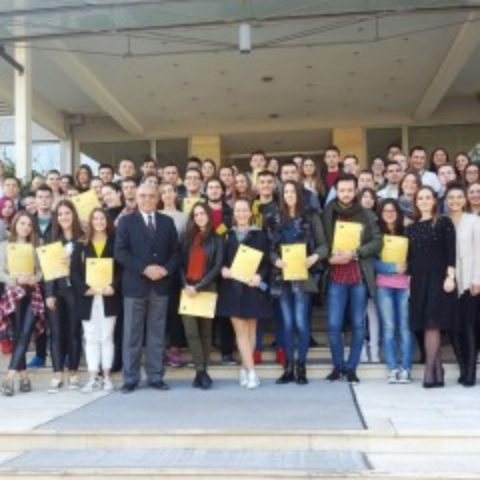 """Diplomas Given to Participants of Second International School """"Entrepreneurial Ideas of Youth in the EU"""" at the Ceremony"""