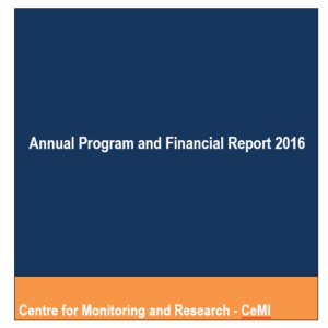 ANNUAL PROGRAM AND FINANCIAL REPORT