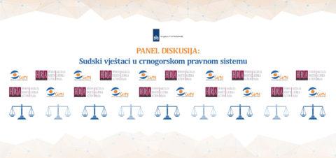 """Petak, 26. maj – Panel diskusija """"Sudski vještaci u crnogorskom pravnom sistemu"""""""