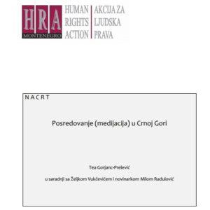 Posredovanje (medijacija) u Crnoj Gori