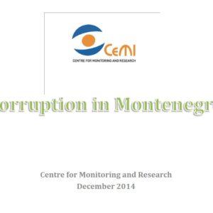 Corr. in Montenegro 2014