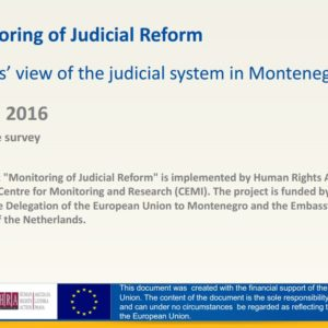 monitoring of judicial reform