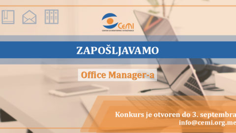 Konkurs za poziciju Office Manager-a