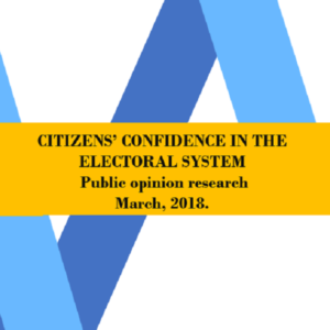 CITIZENS' CONFIDENCE IN THE ELECTORAL SYSTEM