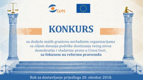 Konkurs za male grantove iz oblasti vladavine prava