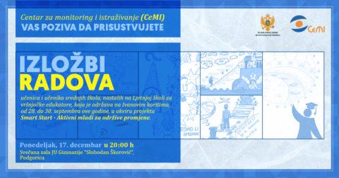 Izložba učeničkih radova će biti organizovana u ponedjeljak