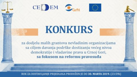 CeMI i CEDEM raspisali konkurs za dodjelu malih grantova organizacijama civilnog društva