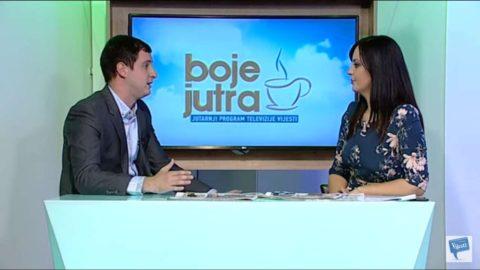 Vukčević komentarisao naslove dnevne štampe u Bojama jutra