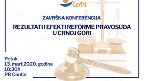 Završna konferencija – petak, 13. mart 2020. godine
