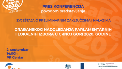 PRES konferencija – srijeda, 2. septembar 2020. godine